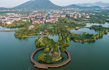 Scenery of Dingshan Lake in Hangzhou