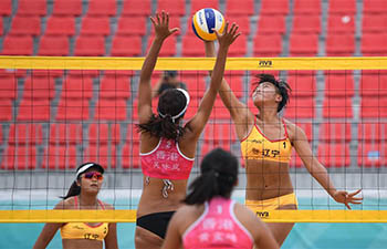 In pics: beach volleyball matches at 2nd China Youth Games