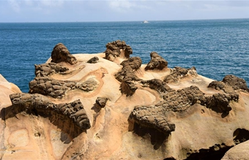Scenery of rocks near Yehliu Geopark in SE China's Taiwan