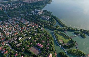 Scenery of Yangcheng Lake in Kunshan, China's Jiangsu
