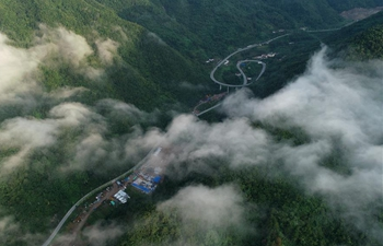 Cloud scenery of Ningshan County in northwest China's Shaanxi