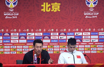 Press conference held after FIBA World Cup group A match between China and Venezuela