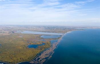 View of Bosten Lake in NW China's Xinjiang