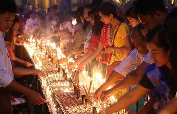 Traditional Thadingyut Lighting Festival held in Yangon