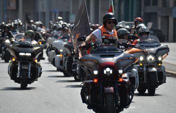 Harley-Davidson motorcycle parade held in Casablanca, Morocco