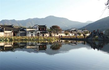 Scenery of Hongcun Village scenic spot in Yixian County, E China