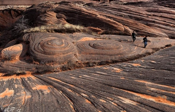 In pics: view of Danxia landform in northwest China's Shaanxi