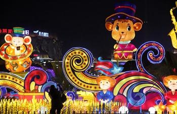 Tourists enjoy lantern show in Jiangsu