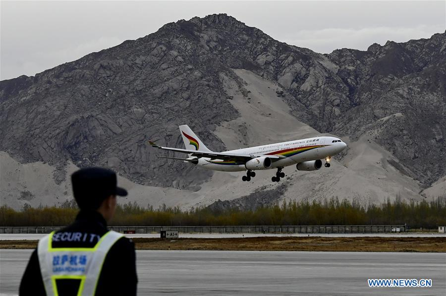 CHINA-LHASA-HELSINKI-INTERCONTINENTAL AIR ROUTE-LAUNCH (CN)