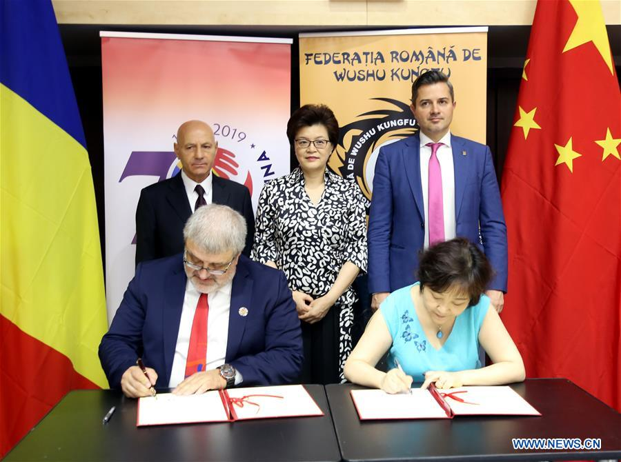 ROMANIA-BUCHAREST-MARTIAL ARTS EQUIPMENT DONATION