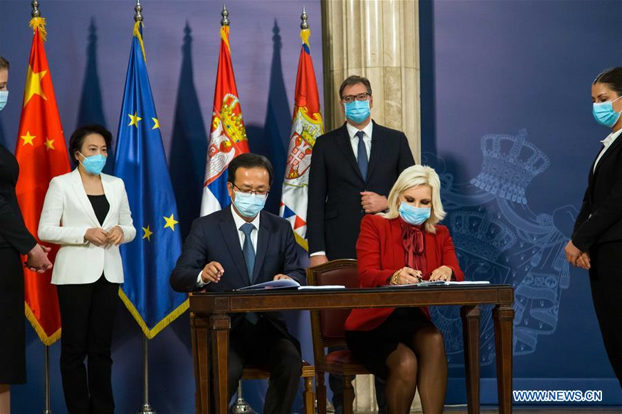 SERBIA-BELGRADE-CHINA-FAST ROAD PROJECT-SIGNING