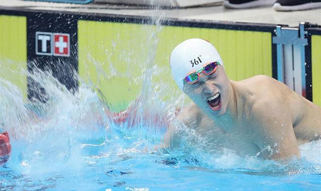Sun Yang wins 400m freestyle at Asian Games