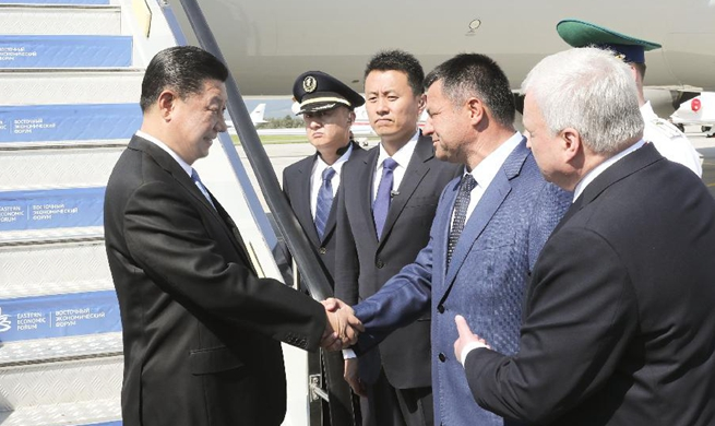 Chinese president arrives in Russia for Eastern Economic Forum