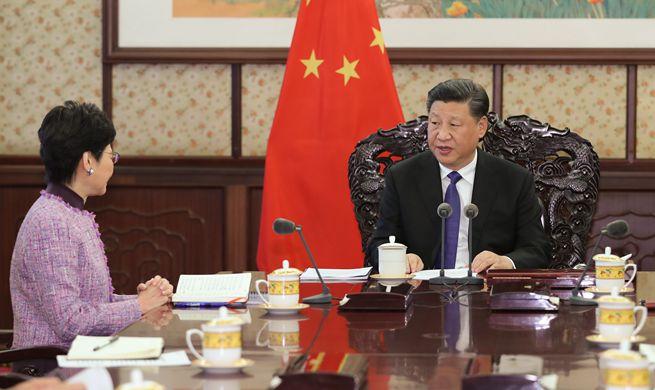 Xi meets with HKSAR chief executive
