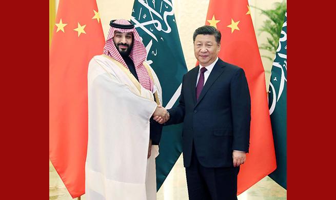 Chinese president meets Saudi crown prince