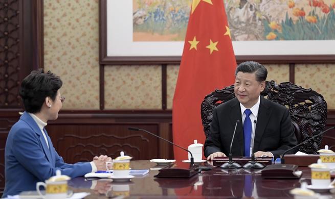Xi Focus: Xi meets with HKSAR chief executive