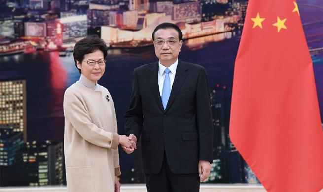 Premier Li meets with HKSAR chief executive