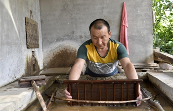 Xihe paper-making skills becomes new income source for people in China's Gansu