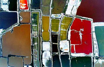 Colorful Salt Lake in Yuncheng City, N China's Shanxi