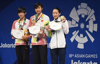 Wang Jianjiahe claims title of women's 400m freestyle final of swimming at Asiad