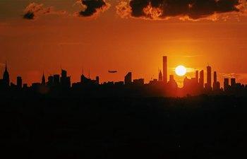 Sunset seen in New York City