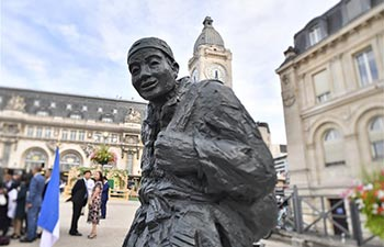 Statue installed in Paris to commemorate WWI Chinese workers