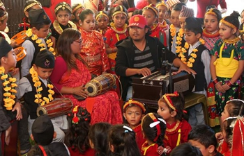 Tihar festival celebrated in Kathmandu, Nepal