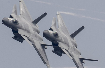 J-20 fighters join Airshow China to commemorate 69th anniv. of PLA Air Force