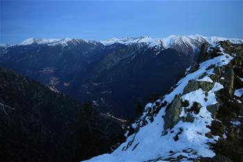 View of Pyrenees Mountain in Andorra