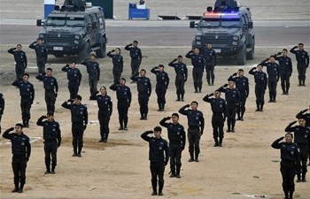 SWAT team members participate in drill in Jinan, east China's Shandong