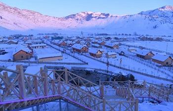 Scenery of Talat Village in Koktokay, China's Xinjiang