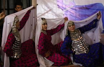 Afghan girls perform in dance festival in Kabul