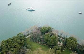 Scenery of West Lake in China's Hangzhou