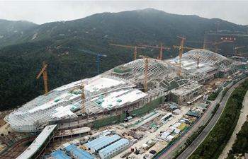 Zhuhai Chimelong marine science museum under construction in S China's Guangdong