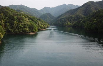 View of Taiping Lake scenic spot in Huangshan, E China's Anhui