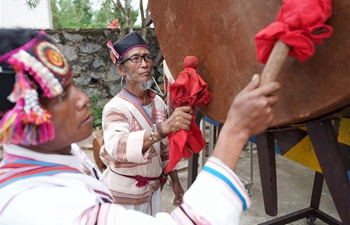 In pics: cultural heritage inheritor dedicated to passing on technique of making Jinuo drums