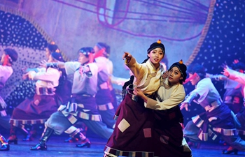 Dance drama featuring Guozhuang dance performed in NW China's Gansu