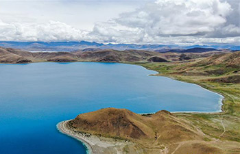 Scenery of Yamzbog Yumco Lake in SW China's Tibet