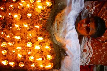 Dashain Festival celebrated in Bhaktapur, Nepal