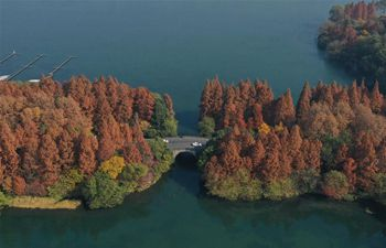 View of West Lake scenic area in Hangzhou