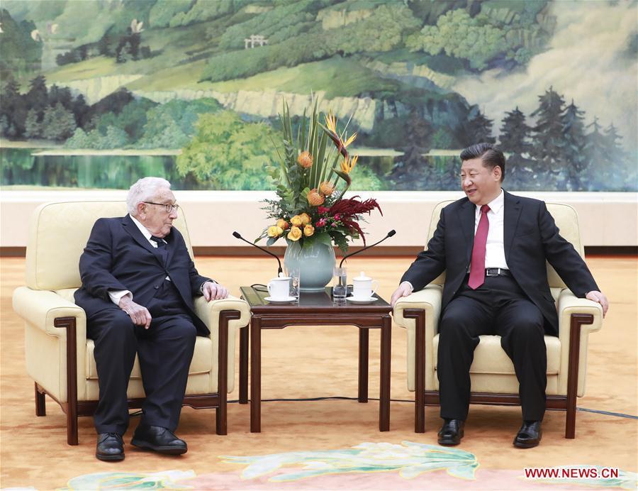 CHINA-BEIJING-XI JINPING-HENRY KISSINGER-MEETING (CN)