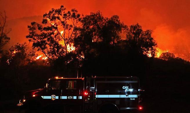 Dozens of wildfires burn across California