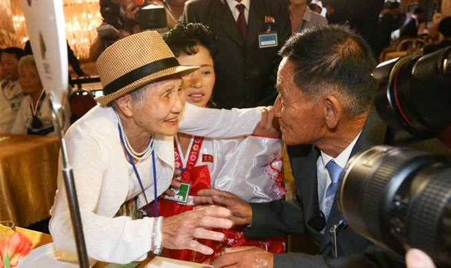 Feature: War-separated families of S.Korea, DPRK reunite in tears, joy