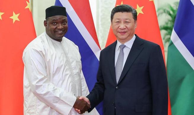 Xi meets Gambian president