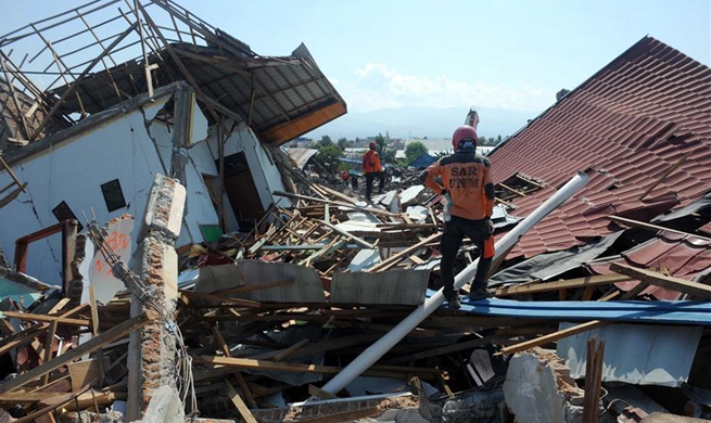 Rescue work underway in the wake of Indonesia's earthquakes