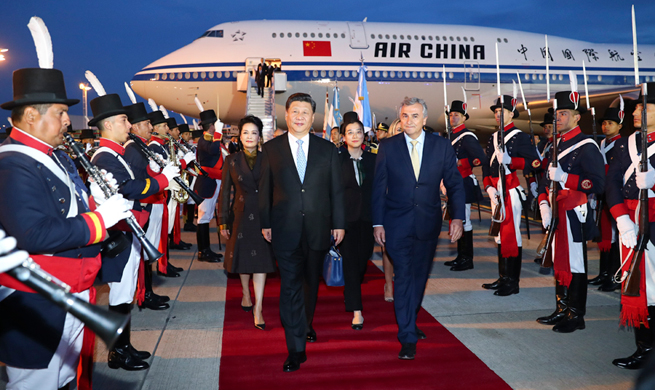 Chinese president arrives in Argentina for G20 summit, state visit