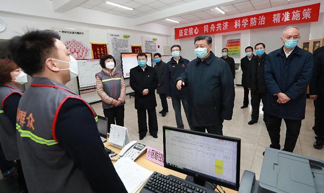 Xi Focus: Xi vows to win people's war against novel coronavirus