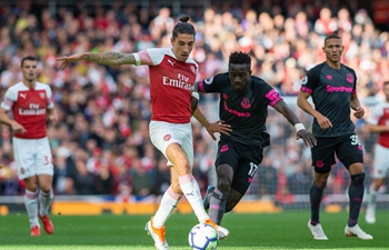 Arsenal beats Everton during English Premier League match in London