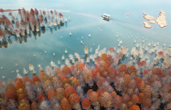 Autumn scenery of Qinglongwan reservoir in east China