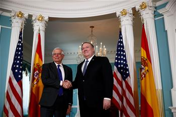 Pompeo meets with Spanish FM in Washington D.C.